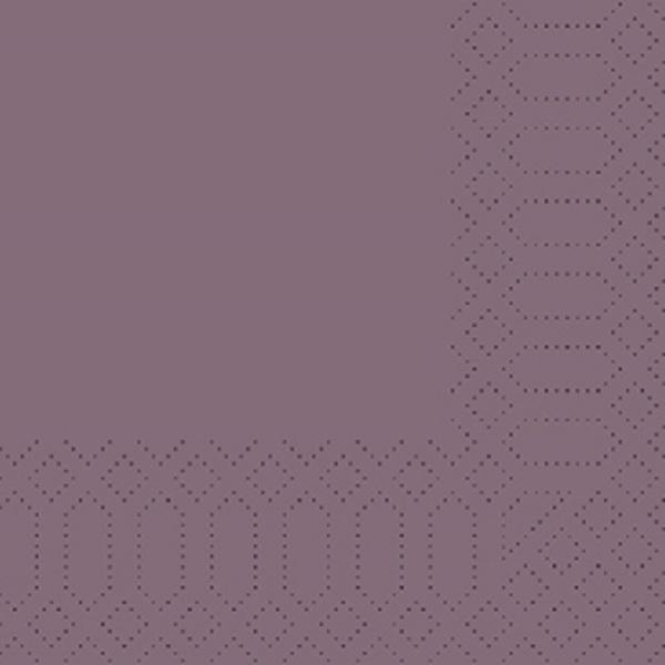 250 Duni Zelltuch Servietten plum Pflaume 3 lagig 1/4 Falz 33 x 33 cm