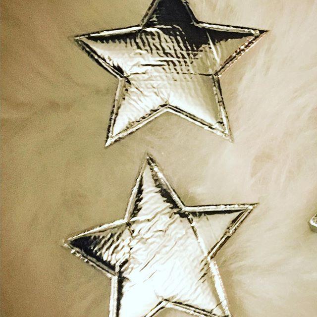 6 Sterne silber 6,5 x 5,5 cm weich