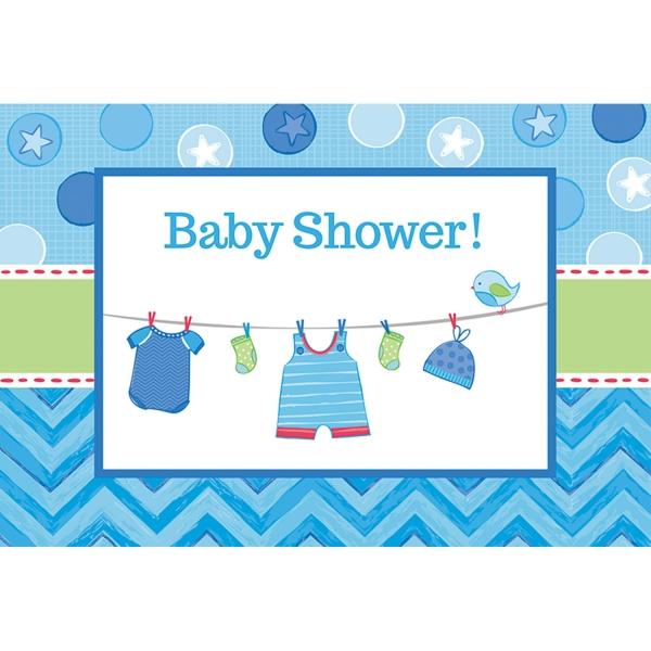 Baby Party  Einladungskarten ... es wird ein Junge