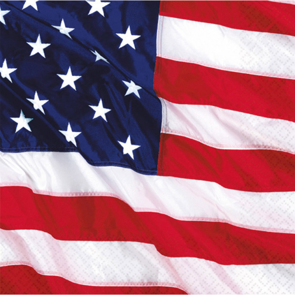Party Servietten Amerika 33 x 33 cm Amscan Die Flagge