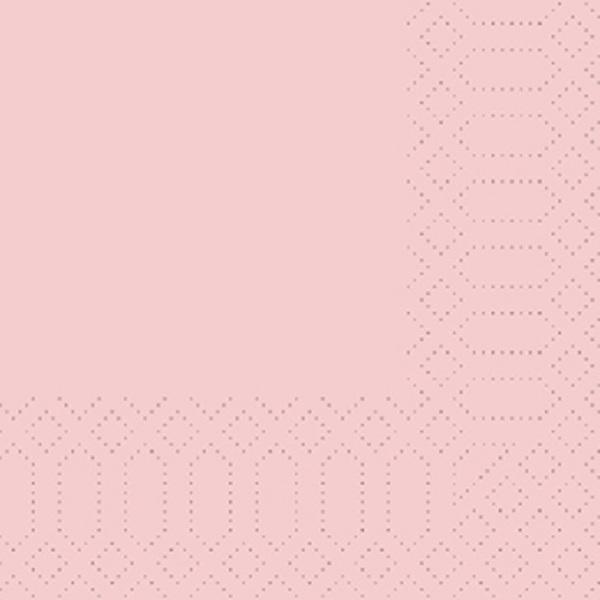 250 Duni Zelltuch Servietten mellow rose 33 x 33 cm