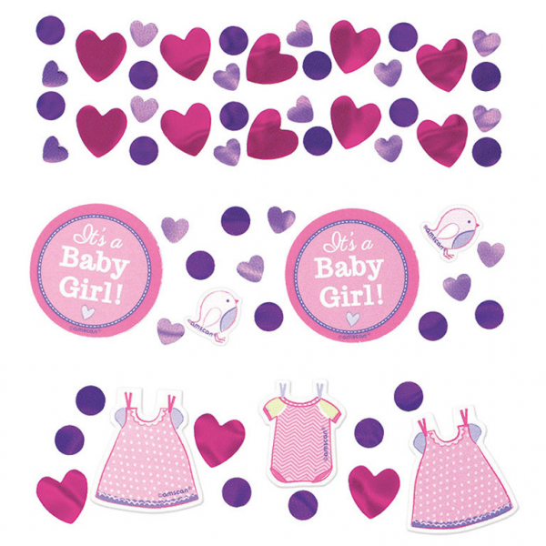 Baby Party Mädchen Party Konfetti
