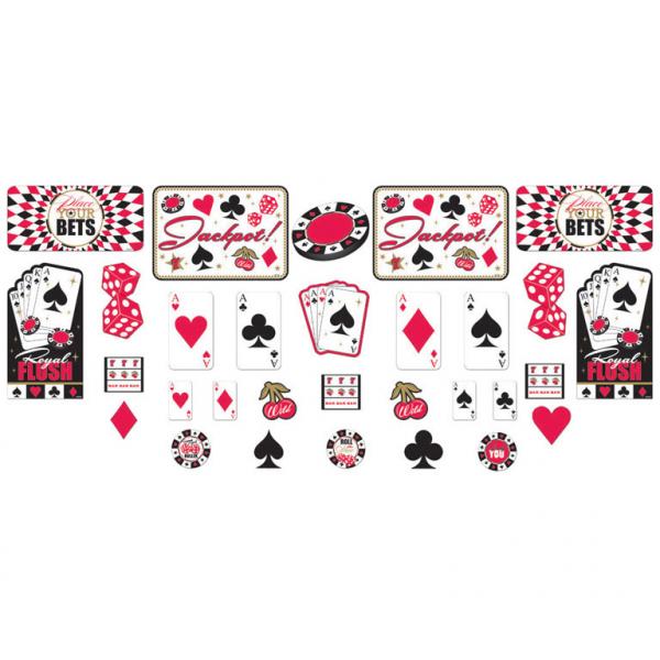 Cut outs / Ausschnitte  Casino Herz Pik Karo Blatt 30 Stück