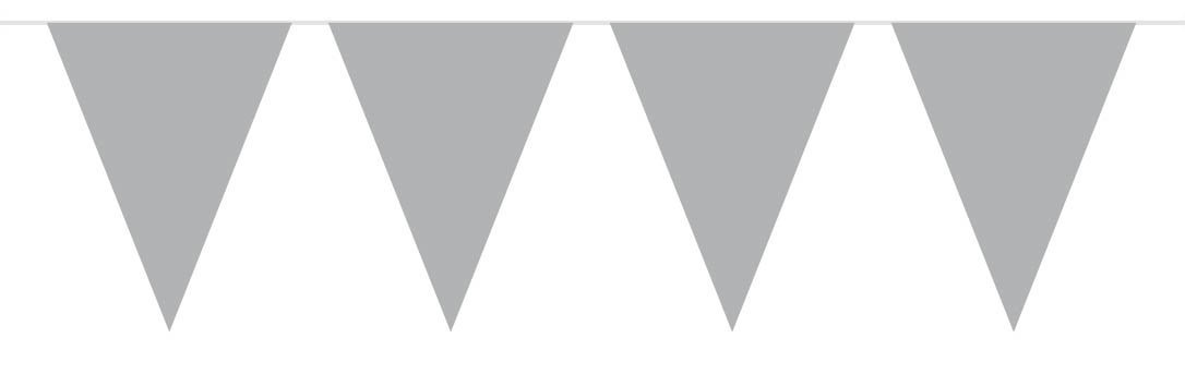 Wimpel Girlande silber 10 m von Folat