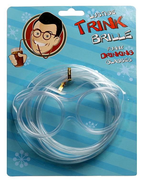 Spaßbrille Trinkbrille Strohhalm