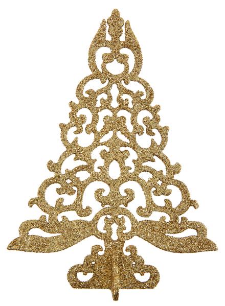 Tannenbaum gold glitzernd 3 D Tisch Dekoration