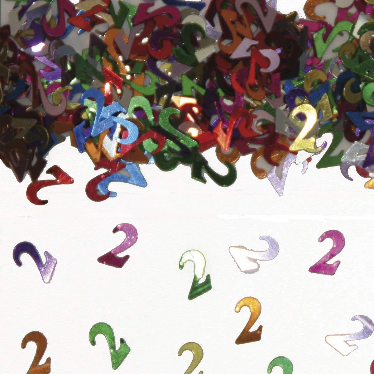 Party Konfetti Streudekoration zum 2ten Geburtstag