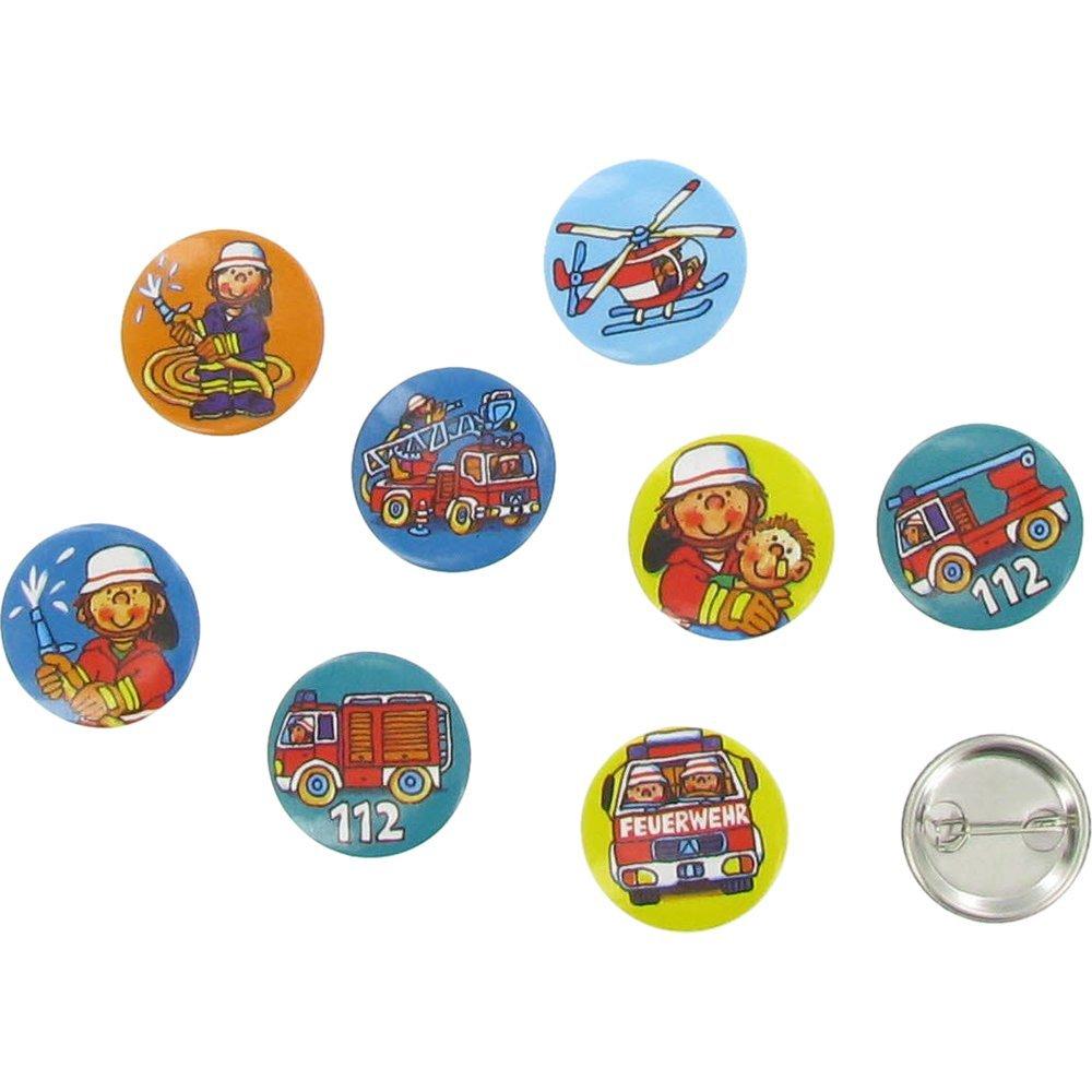 8 Mini Buttons Feuerwehr Benny Brandmeister von Lutz Mauder