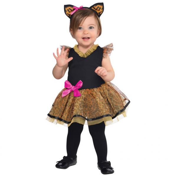Das wilde Kätzchen Baby Kinder Kostüm Gr.: 92 cm 12 - 24 cm