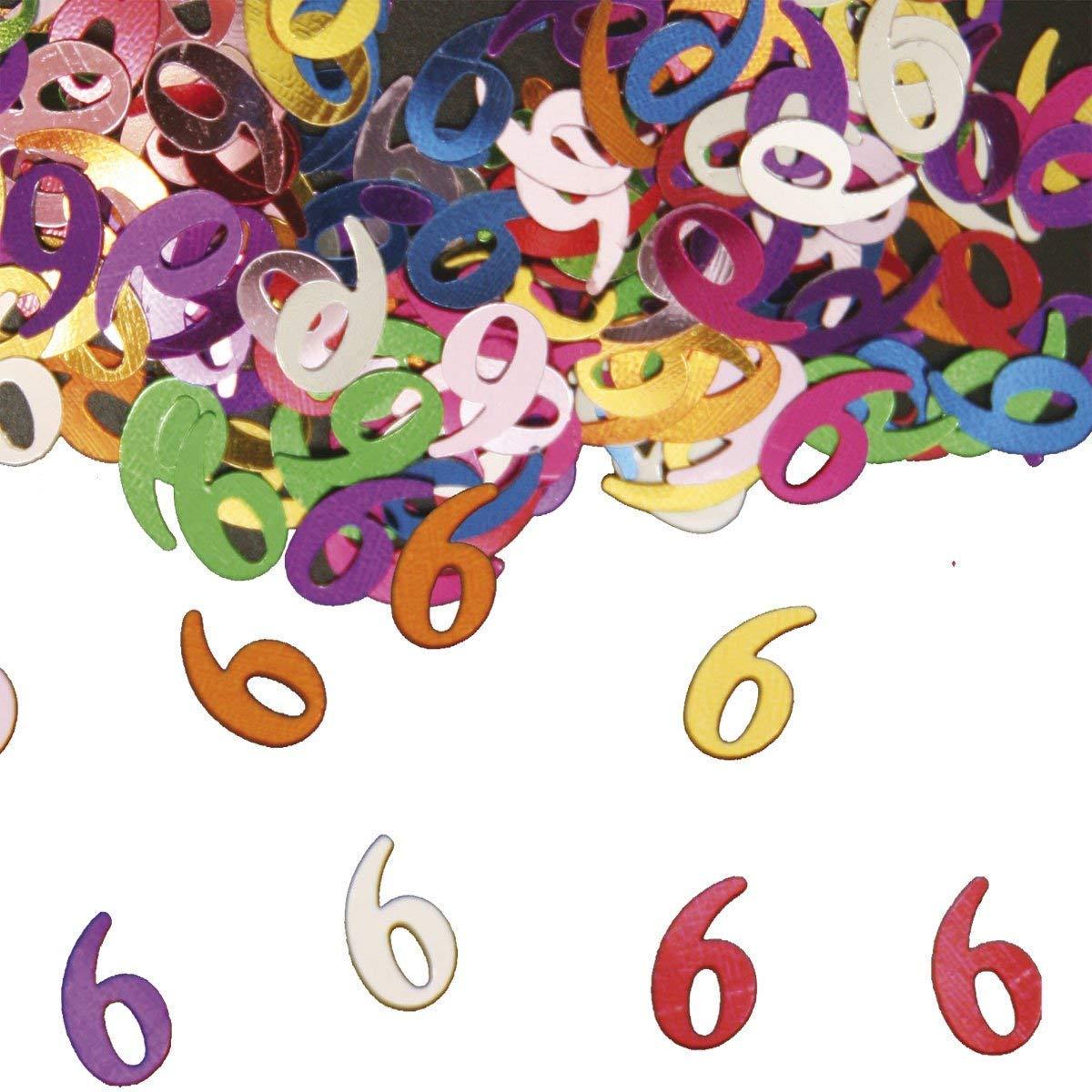 Party Konfetti Streudekoration zum 6ten Geburtstag