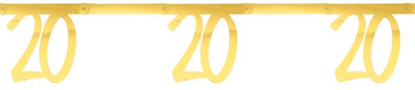 20. Geburtstag Party Wimpelkette Girlande gold  von Santex