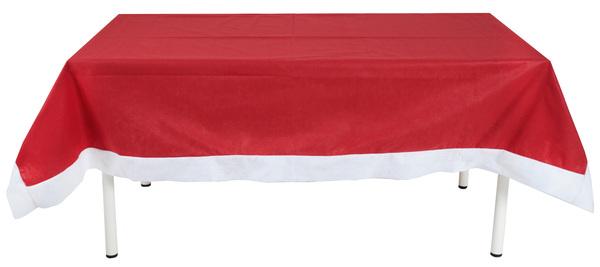 """""""Die Nikolaus Tischdecke"""" 150 x 220 cm rot weiß"""