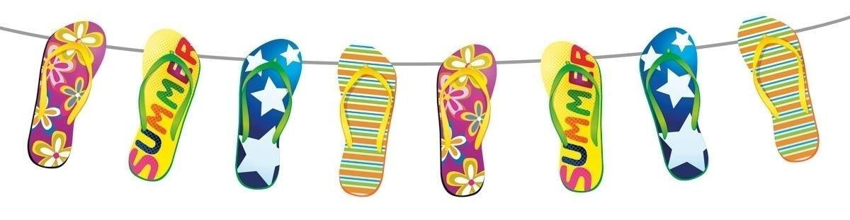 Party Girlande Flip Flop ... Sommer, Sonne