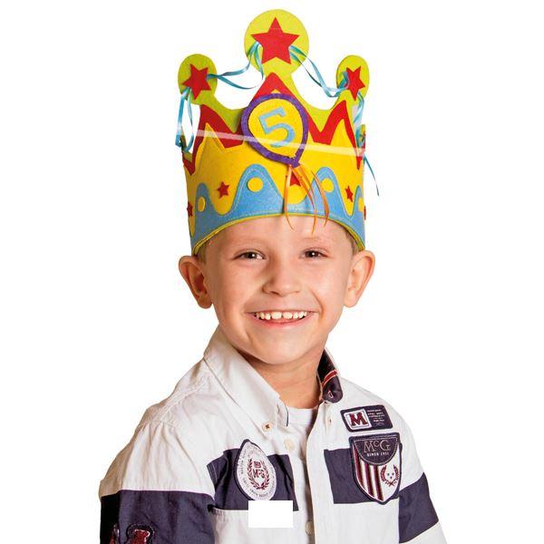 Geburtstags Krone für Jungen mit Zahlen von 1 - 5
