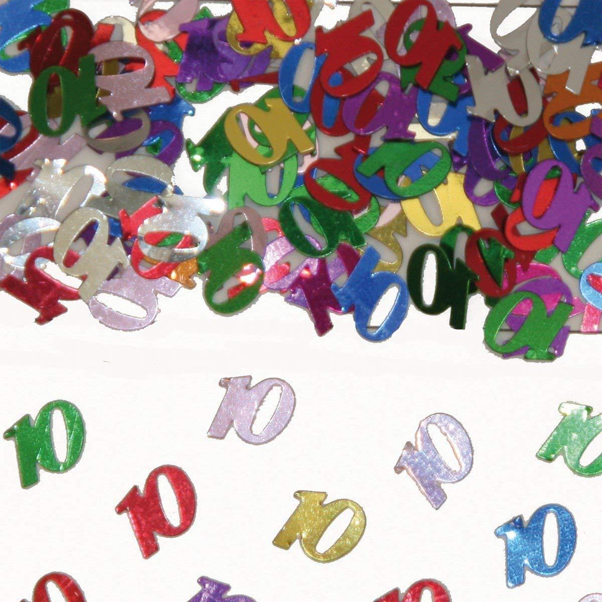 Party Konfetti Streudekoration zum 10ten Geburtstag