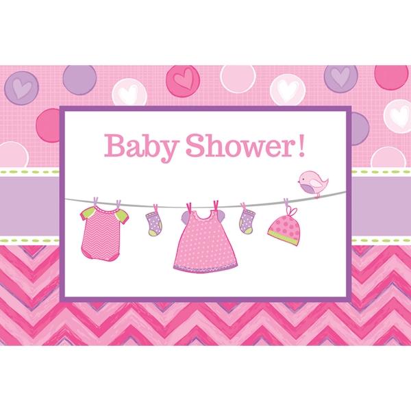 Baby Party  Einladungskarten ... es wird ein Mädchen