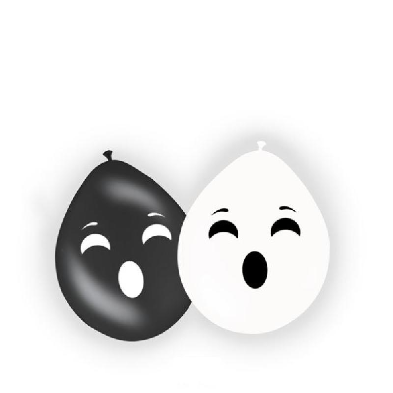 Grusel Geister Luftballons black and white Halloween