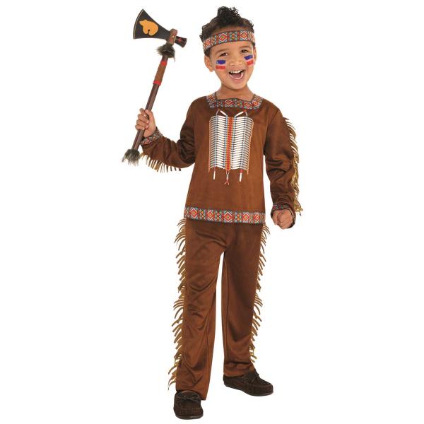 """Kinder Kostüm """"Der wilde Indianer"""" Gr.: 110 - 122 / 4 - 6 Jahre"""