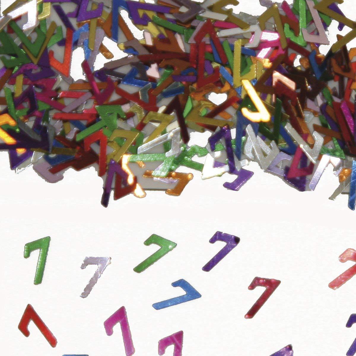 Party Konfetti Streudekoration zum 7ten Geburtstag