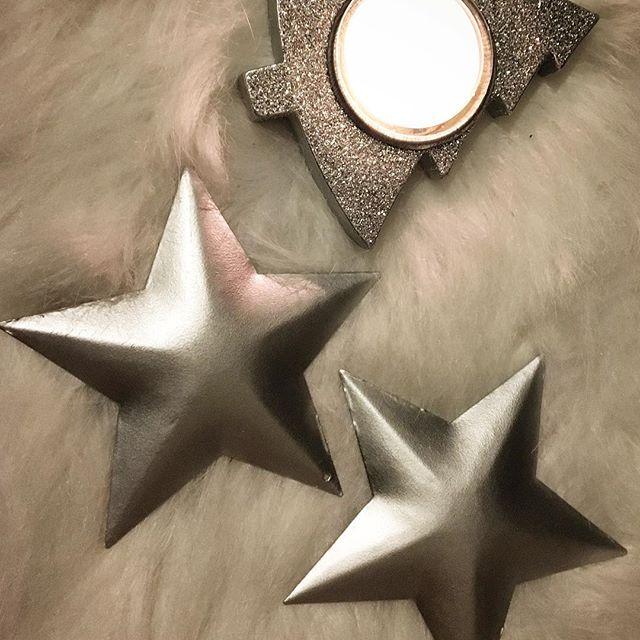 6 Sterne silber 4 x 4 cm