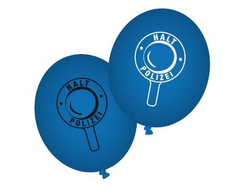 Party Polizei Luftballons 8 St. blau