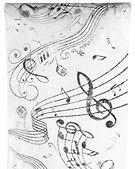 Tischband Tischläufer Musik Notenschlüssel