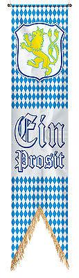 """Oktoberfest Banner  """" Ein Prosit """" 1,80 x 40 cm von Folat"""