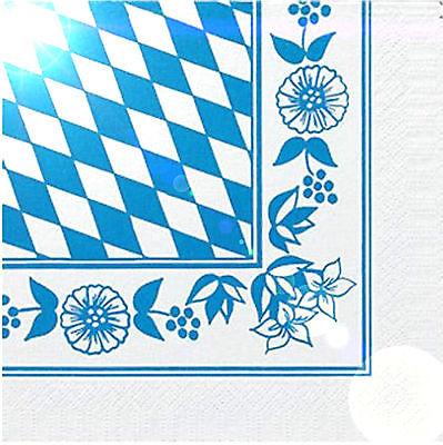250 Duni Zelltuch Servietten bayrische Raute 3 lagig 1/4 Falz 33x33 cm