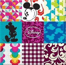 Disney Mickey Mouse Party Patchwork Servietten