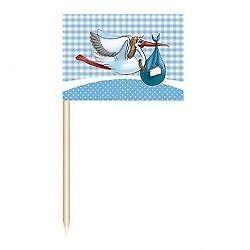 Party Picker / -spieße es wird ein Junge mit Fahne von Folat
