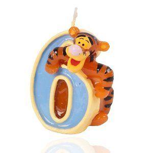 Zahlenkerze 6. Geburtstag Disney Winnie the Pooh