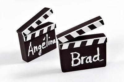 HOLLYWOOD Filmklappe Tisch Kartenhalter beschriftbar 2 Stück