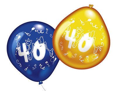 40. Geburtstag Party Luftballons