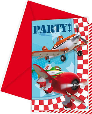 Disney Planes Party Einladungen