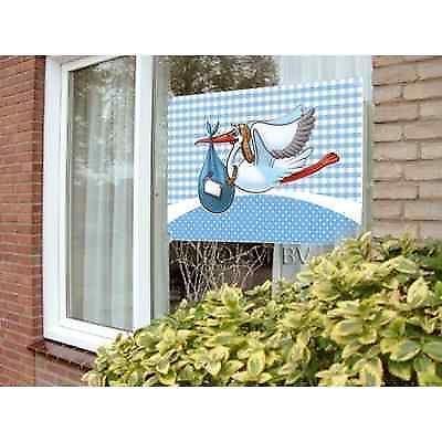 Fensterfahne / Banner es ist ein Junge Storch Fahne