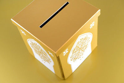 Geldbox Briefbox orientalisch Gold