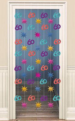 Türvorhang Party Strings 60. Geburtstag