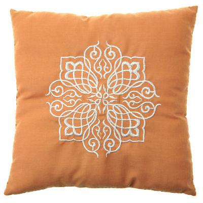 Goldenes Ringkissen mit orientalischem Muster 18 x 18 cm