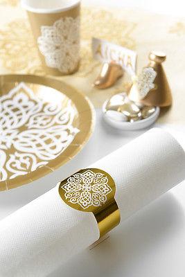 6 Serviettenringe orientalisch gold