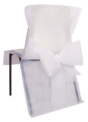 Stuhlhussen Einweg weiß 10 Stück
