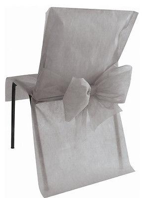Stuhlhussen Einweg grau 10 Stück