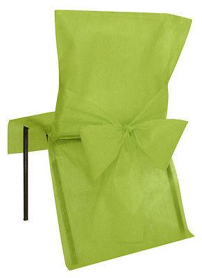 Stuhlhussen Einweg kiwi / hell grün10 Stück