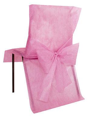 Stuhlhussen Einweg rosa10 Stück