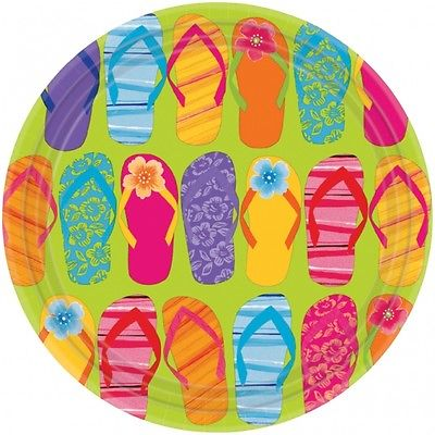 Party Teller Hawaii Sommer 26,7 cm im Durchm.