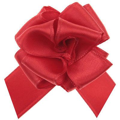 Geschenke Schleife pull bow (Aufzieh Schleife) rot 5 Stück 15 cm