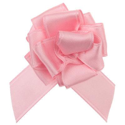 Geschenke Schleife pull bow (Aufzieh Schleife) rosa 5 Stück 25 cm