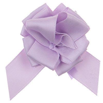 Geschenke Schleife pull bow (Aufzieh Schleife) lila 5 Stück 25 cm