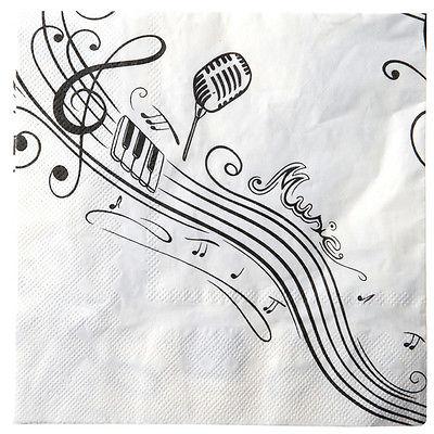 Party Servietten Musik ... Musik Notenschlüssel