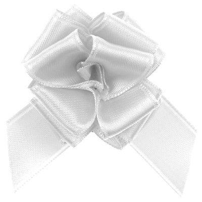 Geschenke Schleife pull bow (Aufzieh Schleife) weiß 5 Stück 25 cm