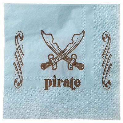 blau wie das Meer Piraten Party Servietten